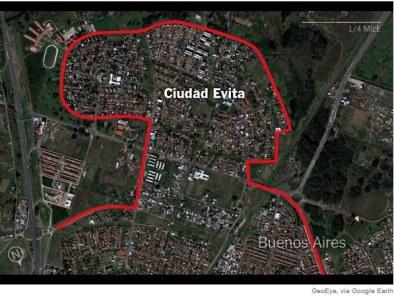 Ciudad Evita mapa